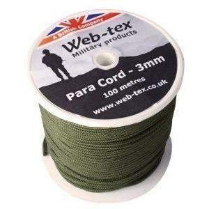 Web-Tex Paracord Roll 100M Olive