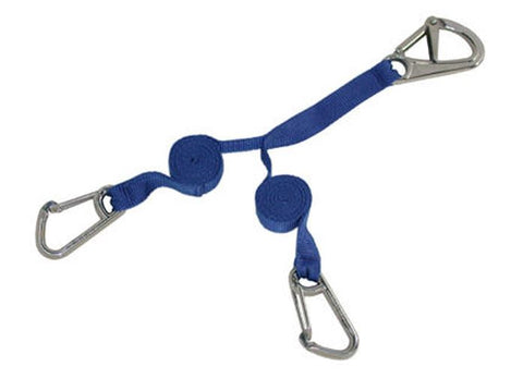 Boat Sailing Safety Tether Harness With 3 Stainless Steel Snap Hooks