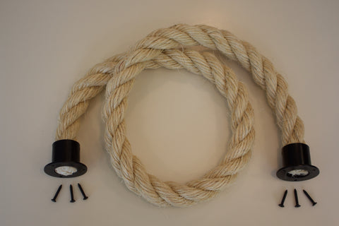 Buff Rope Black Fixings