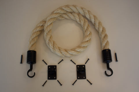 Buff Rope Powder Coated Black Fixings