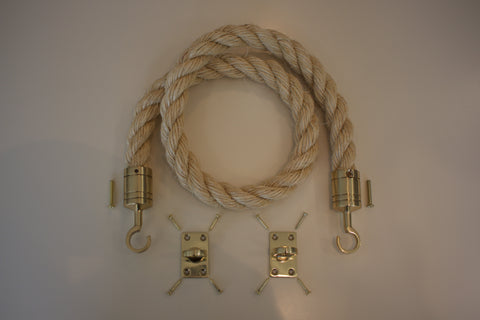 Buff Rope Brass Fixings