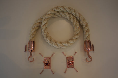 Buff Rope Polished Copper Fixings