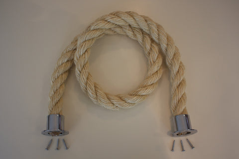 Buff Rope Chrome fixings