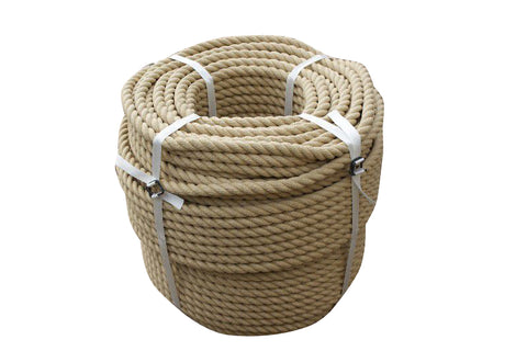 Decking Rope Garden Rope Wall Rope Buff Synthetic Hemp Rope 20MM Dia - 220m Coil