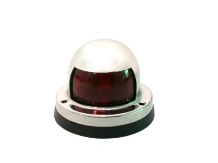AISI 316 Marine Grade Stainless Steel Red Lens Port Boat Ship Navigation Light