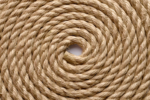 Decking Rope Garden Rope Natural Buff Sisal Rope 24MM Dia X 10M