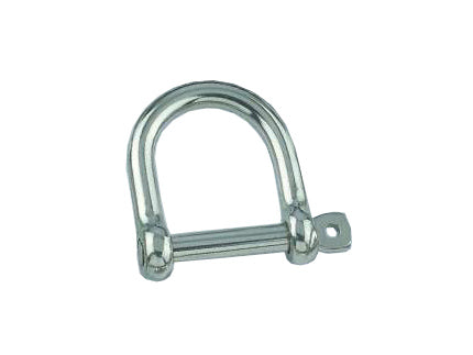 AISI 316 Marine Grade Stainless Steel 8mm Wide Jaw Dee Chain Shackle