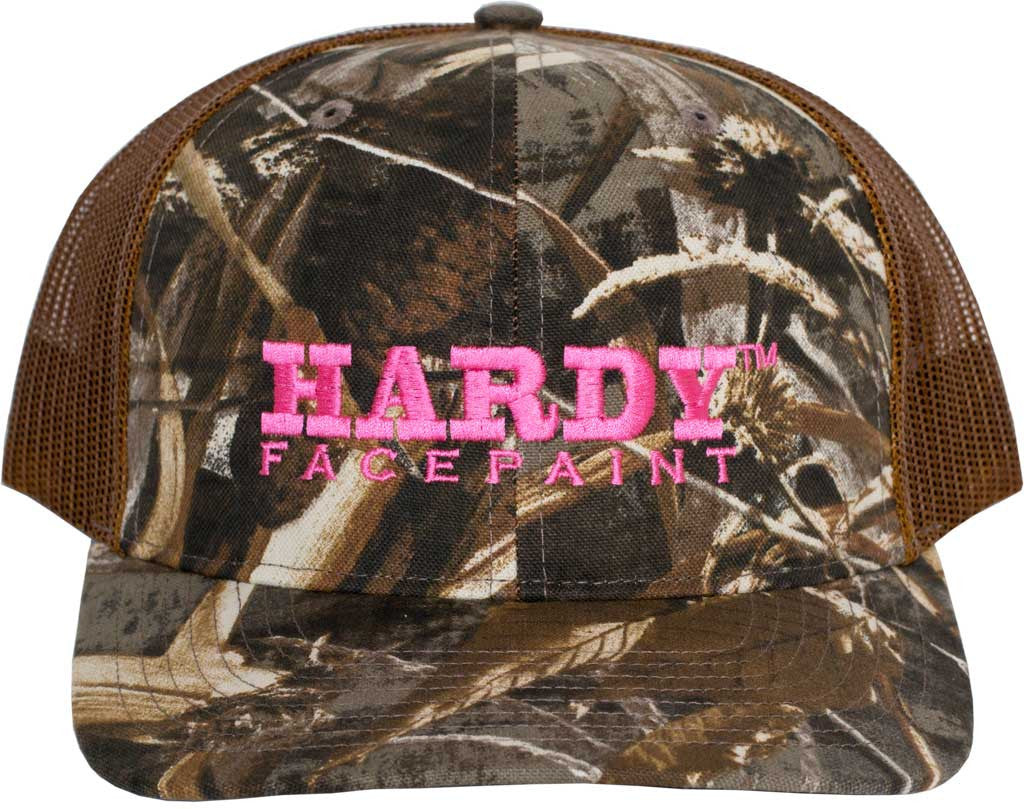 b9c146d4a Embroidered HARDY Facepaint Realtree Max 5 Pink Hat