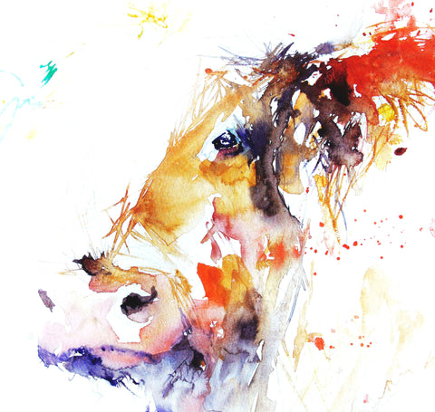 JEN BUCKLEY signed LIMITED EDITON PRINT of my HIGHLAND COW watercolour