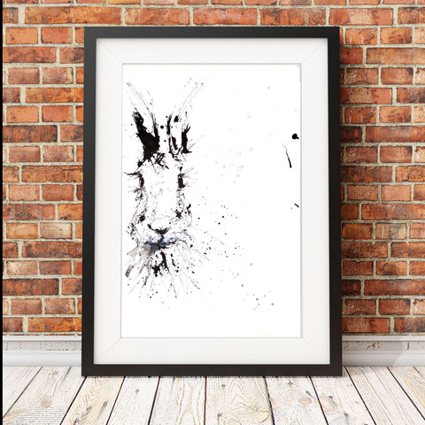 JEN BUCKLEY  signed PRINT of my original HARE INK DRAWING