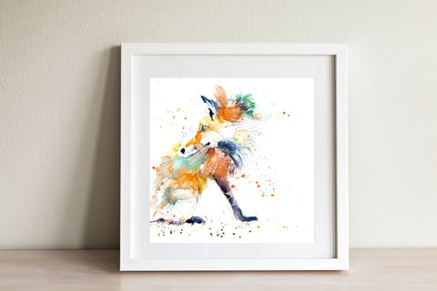 JEN BUCKLEY ART   PRINT  of my original RED FOX watercolour