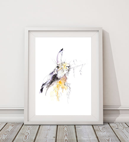 JEN BUCKLEY signed LIMITED EDITION PRINT of my original HARE watercolour