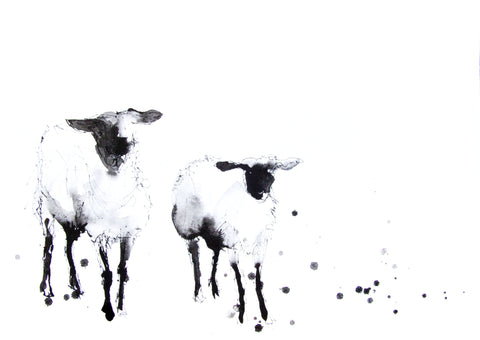 JEN BUCKLEY signed LIMITED EDITON PRINT of my original BLACK FACE SHEEP   - Jen Buckley Art  - 1