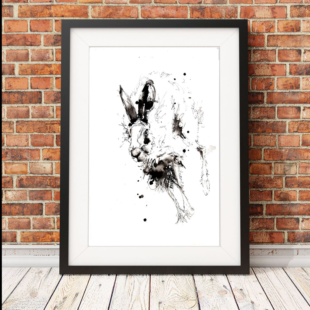 JEN BUCKLEY signed LIMITED EDITON PRINT of my original HARE watercolour
