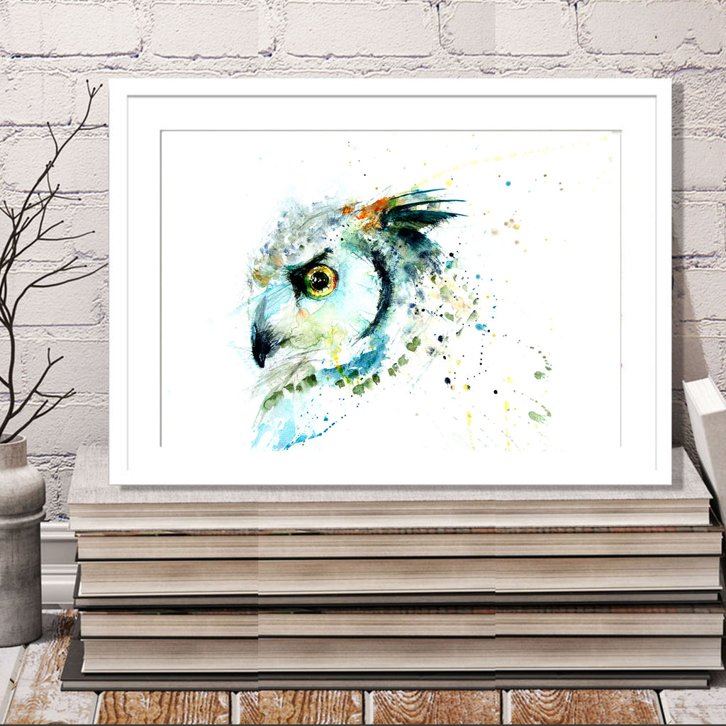 JEN BUCKLEY signed LIMITED EDITON PRINT of my original Long eared OWL