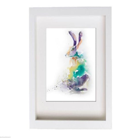 JEN BUCKLEY ART  signed PRINT of my original watercolour HARE painting   - Jen Buckley Art  - 3