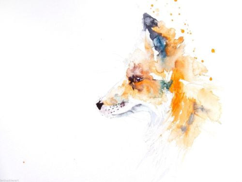 JEN BUCKLEY signed LIMITED EDITON PRINT of my original RED FOX - Jen Buckley Art limited edition animal art prints