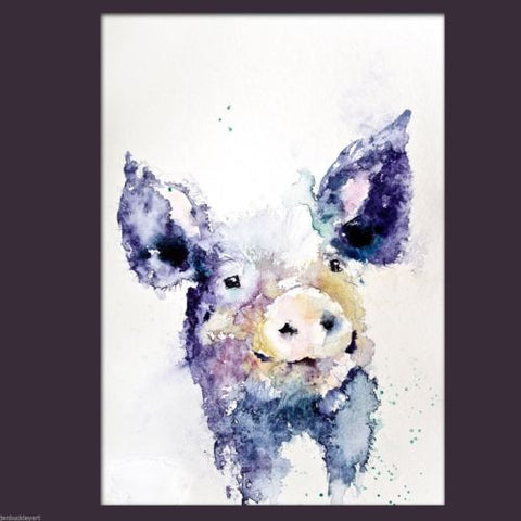 JEN BUCKLEY signed LIMITED EDITON PRINT of my original HAIRY PIG - Jen Buckley Art  - 2