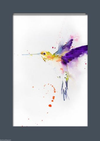 JEN BUCKLEY ART  signed PRINT of my original HUMMINGBIRD watercolour - Jen Buckley Art limited edition animal art prints