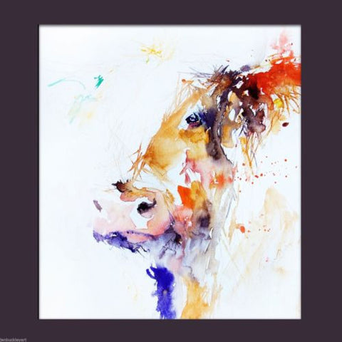 JEN BUCKLEY signed LIMITED EDITON PRINT of my HIGHLAND COW watercolour  - Jen Buckley Art  - 3