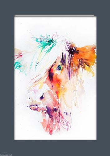 JEN BUCKLEY ART  signed PRINT of my original HIGHLAND COW watercolour - Jen Buckley Art  - 2