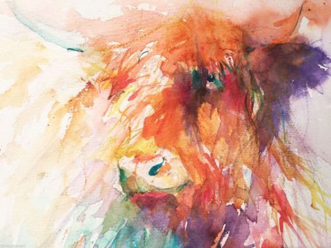 JEN BUCKLEY signed LIMITED EDITION PRINT of my original HIGHLAND COW