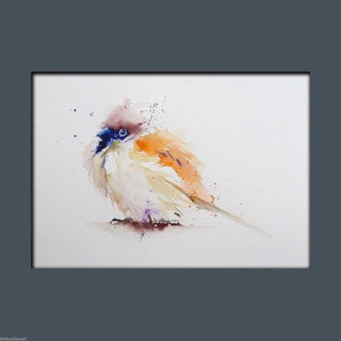 JEN BUCKLEY ART  signed PRINT of my original SPARROW watercolour A4   - Jen Buckley Art limited edition animal art prints