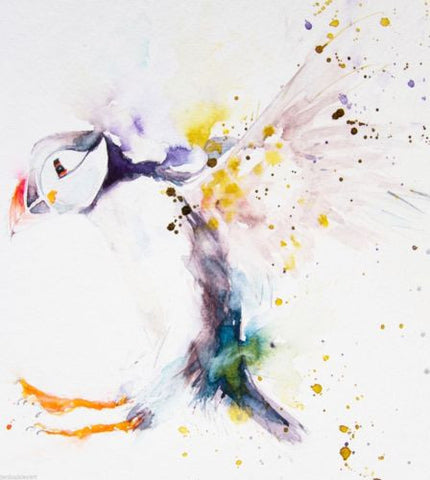Signed LIMITED EDITION PRINT of original PUFFIN watercolour    - Jen Buckley Art  - 3