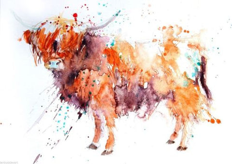 Highland cow - Jen Buckley Art limited edition animal art prints