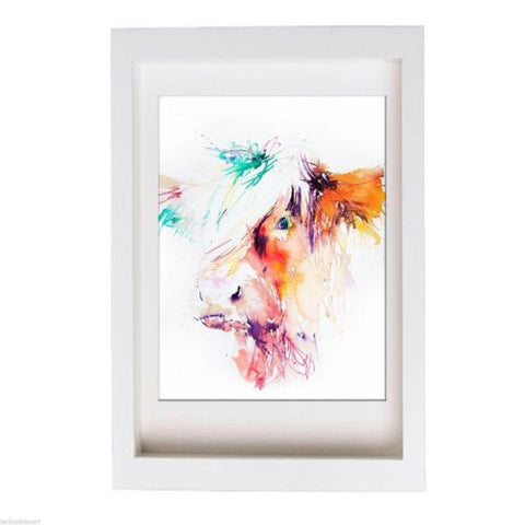 JEN BUCKLEY ART  signed PRINT of my original HIGHLAND COW watercolour - Jen Buckley Art  - 3
