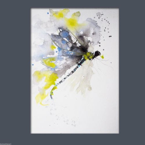 JEN BUCKLEY ART  signed PRINT  of my original DRAGONFLY watercolour - Jen Buckley Art  - 2