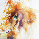 JEN BUCKLEY ART  signed PRINT of my original HIGHLAND COW  watercolour - Jen Buckley Art limited edition animal art prints