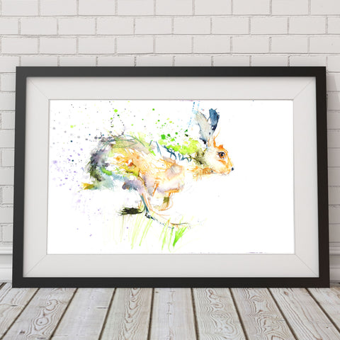JEN BUCKLEY signed LIMITED EDITON PRINT of my original Running Hare