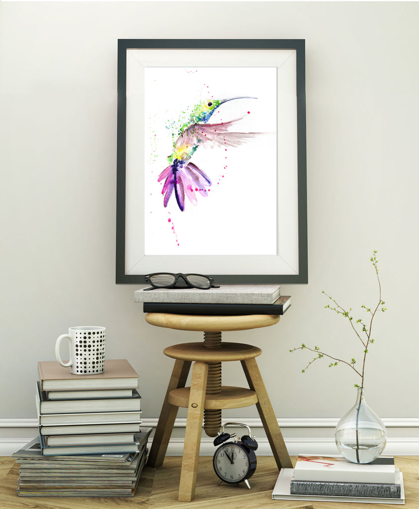 JEN BUCKLEY ART  signed limited edition PRINT of my original HUMMINGBIRD watercolour