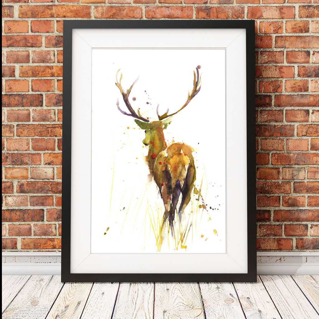 JEN BUCKLEY signed LIMITED EDITON PRINT of my original STAG