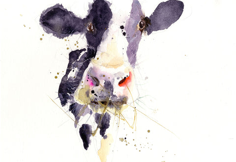 signed LIMITED EDITON PRINT Dairy Cow - Jen Buckley Art  - 3
