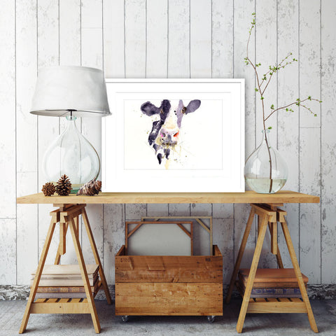 signed LIMITED EDITON PRINT Dairy Cow
