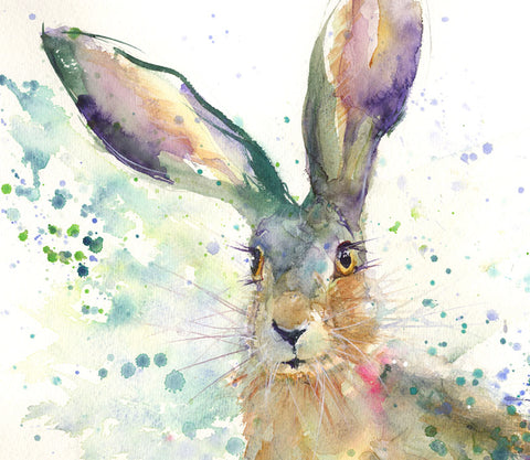 "Limited edition hare print ""Nancy"""