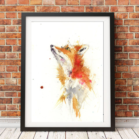 Limited edition PRINT from original RED FOX watercolour