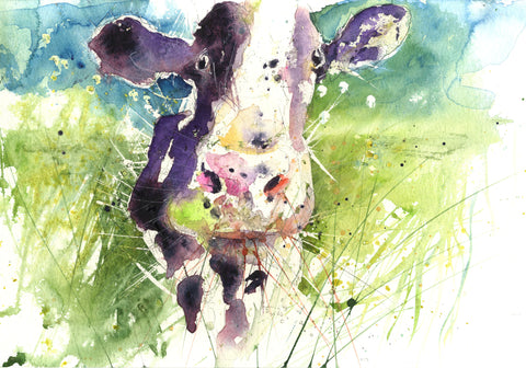 signed limited edition print - Dairy Cow - Jen Buckley Art limited edition animal art prints