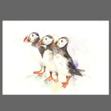 signed LIMITED EDITON PRINT of my original  PUFFINS