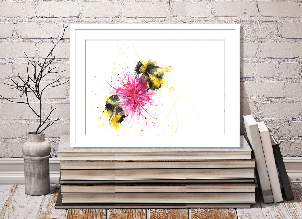 bee print by jen buckley