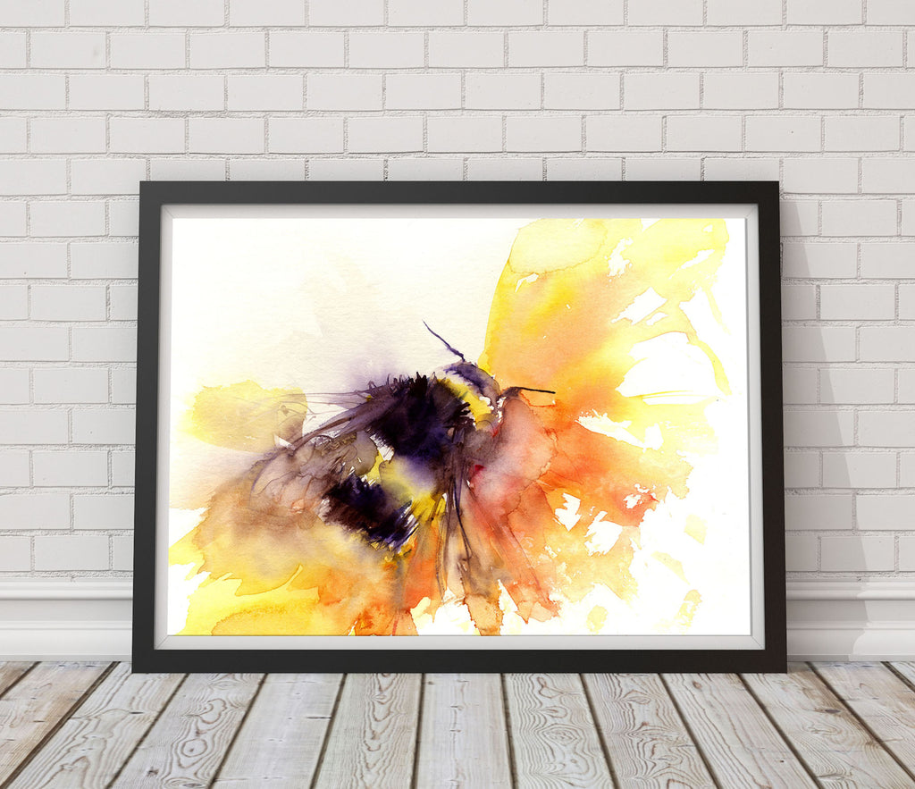 LIMITED EDITON PRINT of my original BUMBLE BEE