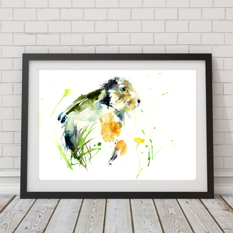 limited edition PRINT of my original HARE watercolour