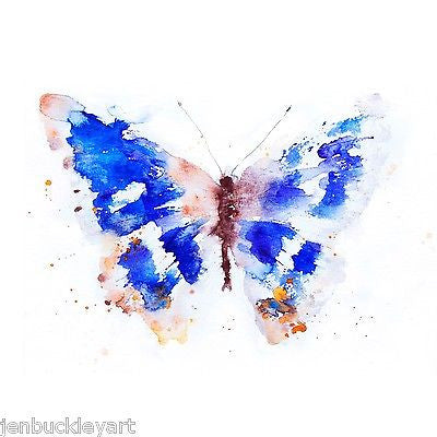JEN BUCKLEY signed LIMITED EDITON BUTTERFLY PRINT  purple emperor