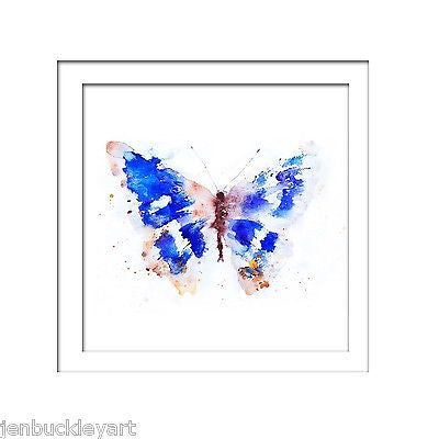 JEN BUCKLEY signed LIMITED EDITON BUTTERFLY PRINT  purple emperor - Jen Buckley Art limited edition animal art prints