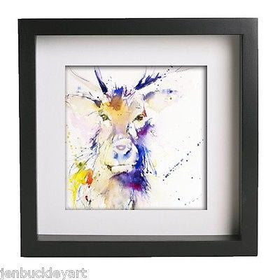 JEN BUCKLEY ART  signed PRINT of my original STAG watercolour - Jen Buckley Art  - 4