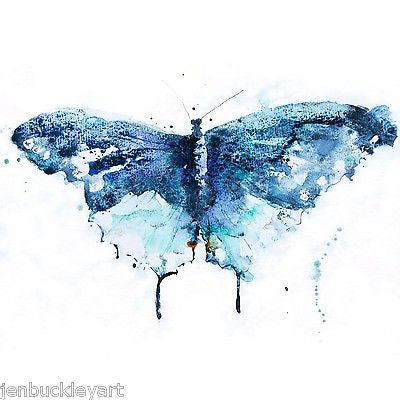 JEN BUCKLEY signed LIMITED EDITON BUTTERFLY PRINT  11 x 11 - Jen Buckley Art limited edition animal art prints