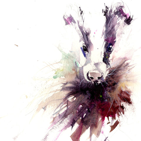 signed limited edition print - Badger