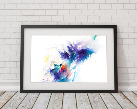 Signed PRINT of an original HIGHLAND COW watercolour